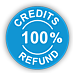 100% Credits Refund