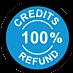 100% Credits Refund